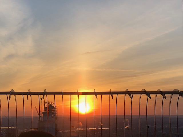 Vista do Por do Sol no Empire State Building
